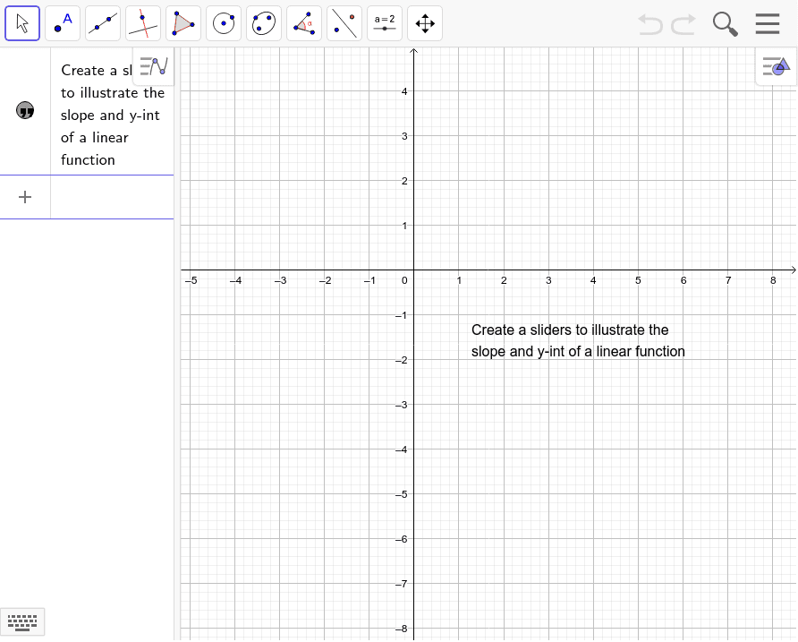Creating a slider Press Enter to start activity