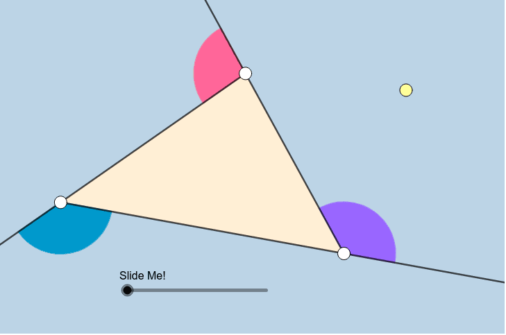 TRIANGLE:  Move any of the LARGE POINTS anywhere you'd like!  Press Enter to start activity