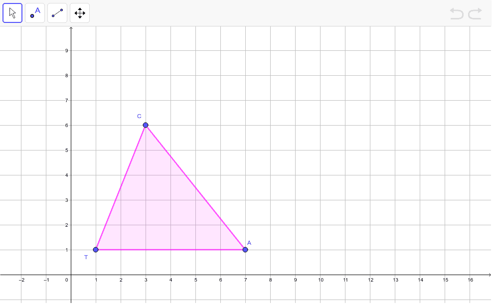 Perform the following sequence of rigid motions. Rotate about (0,0) 90 degrees. Then rotate again about (0,0) by 90 degrees. Plot each stage of the sequence. Press Enter to start activity