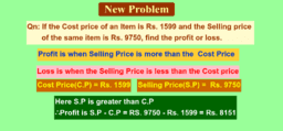 Profit and Loss problem