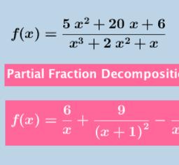Partial Fraction Decomposition Calculator