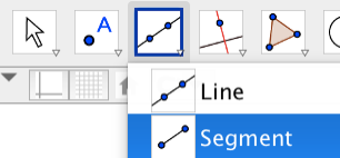 To construct and measure segments, draw them with the segment tool.