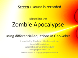 Modelling a Zombie Apocalypse with Differential Equations