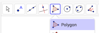 Draw a triangle connecting all 3 vertices.