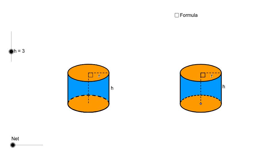 Net of a cylinder Press Enter to start activity