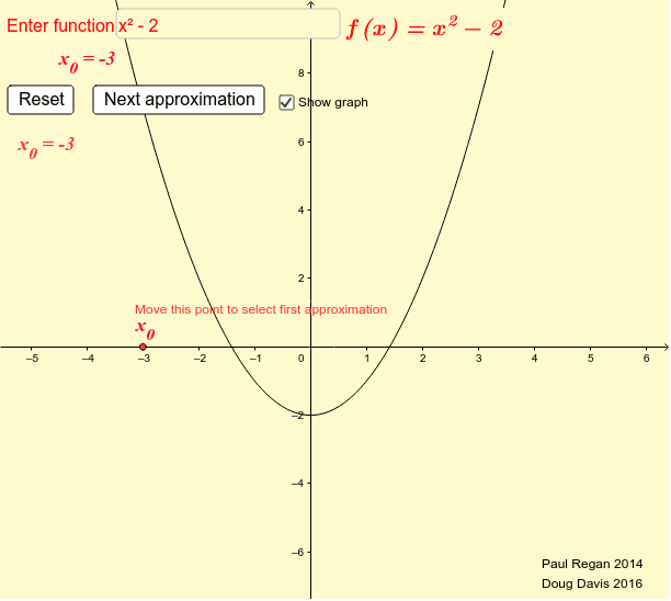 Newton Method for Finding Roots of a Function Press Enter to start activity