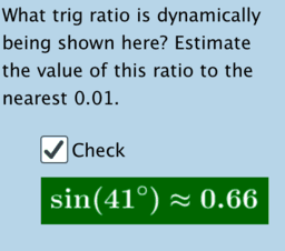 Trig Ratio Estimations (Right Triangle Context)