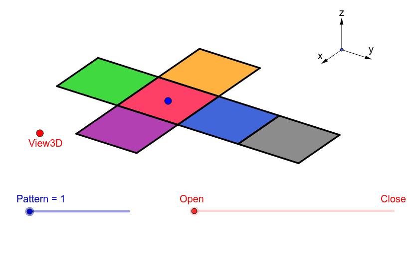 Folding nets of a cube. Press Enter to start activity