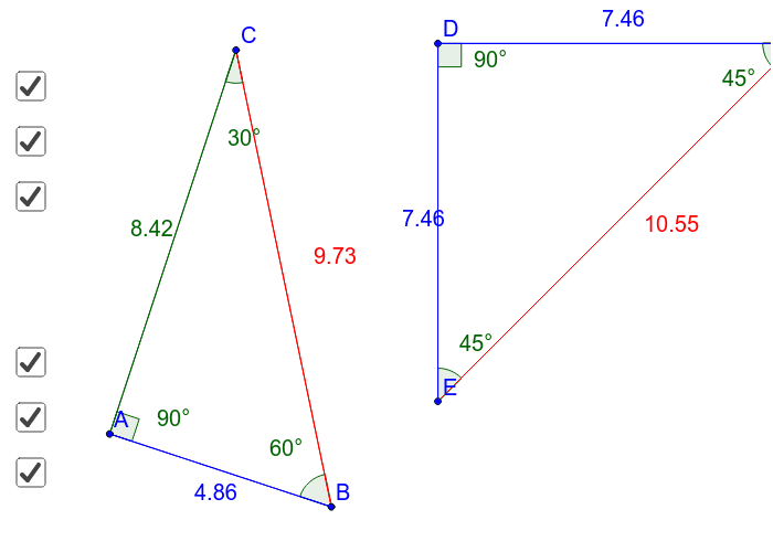 Special Right Triangles Press Enter to start activity