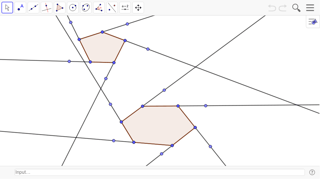 Find the measure of each exterior angle of the two polygons. Press Enter to start activity