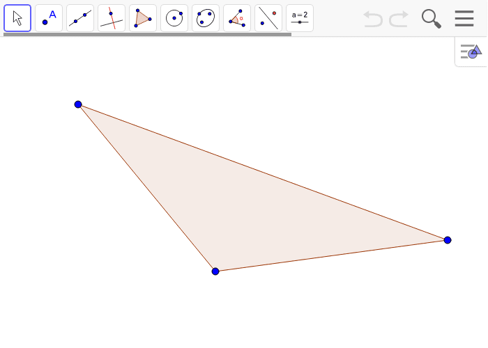 Create a scale drawing of the triangle below with a scale factor of r = 1/4. Press Enter to start activity