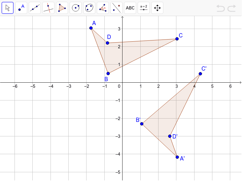 Convince me the line of reflection is y=2/3 x-1. Press Enter to start activity