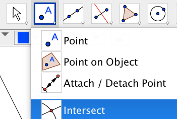 Mark the intersection by finding the interscetion of the angle bisectors.