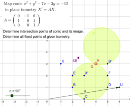 Fixed point of the plane isometry