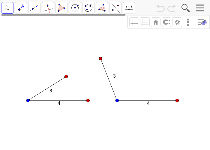 Hint: You can move the red points to change the angles between segments. The blue dots are fixed in place. Press Enter to start activity