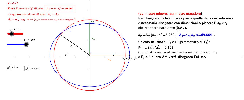 Da area ellisse a cerchio stessa area - da area cerchio ad ellisse stessa area-agg.to 5.11.2018 Premi Invio per avviare l'attività