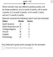 Grade Point Average Problems