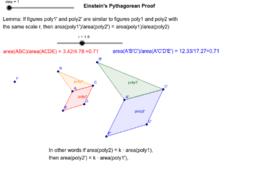 Kopi af Einstein's Proof of the Pythagorean Theorem
