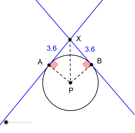 Segments Formed by Tangents Press Enter to start activity