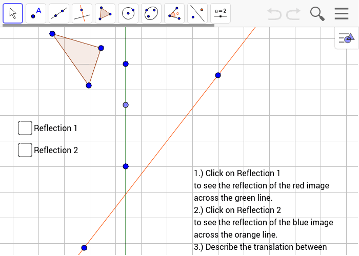 Compositions of Transformations- Rotations Press Enter to start activity