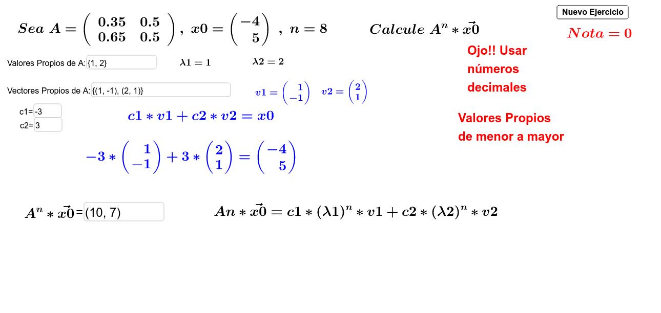 Simulador A^n x0 Presiona Intro para comenzar la actividad