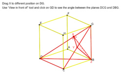Dihedral Angle of Two Planes in a Cube