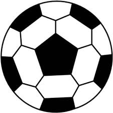The black shape on the soccer ball is a pentagon because it has 5 congruent sides as well as 5 congruent interior angles.