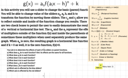 Transformations: Basic Family of Functions