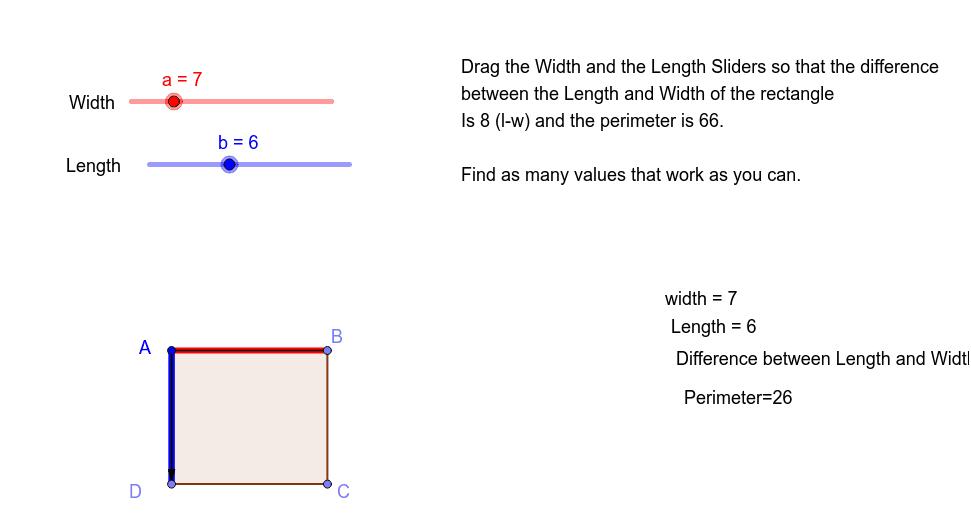 perimeter of rectangle 按 Enter 开始活动