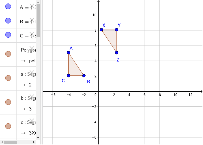 Prove the two triangles are congruent. Then use a set of transformations Press Enter to start activity