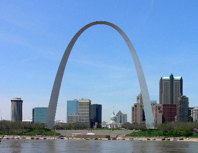 Die Gateway Arch in St.Louis, Missouri