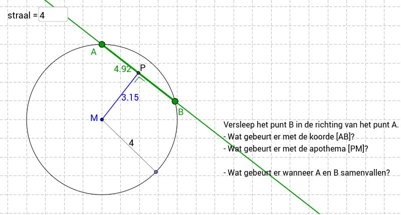 cirkel en rechte Klik op Enter om de activiteit te starten