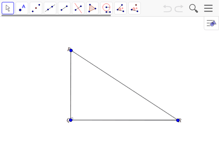 Create a scale drawing of triangle PQR with a scale factor of r = 1/4 Press Enter to start activity