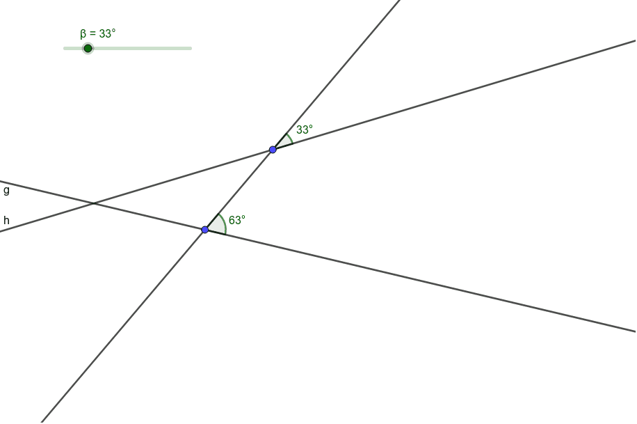 Move the slider so that line g and line h are parallel. Press Enter to start activity