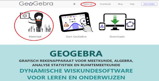 Openingsscherm GeoGebra