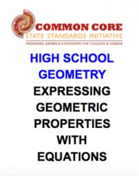 CCSS High School: Geometric Properties of Parabola