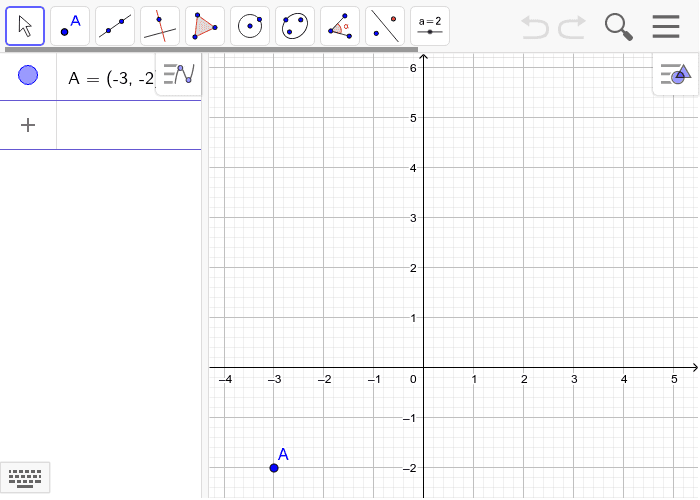 The given point lies on a line with a slope of 3/2.  Plote two other points that are on the line.  Be sure to show the coordinates of the two points.  Press Enter to start activity