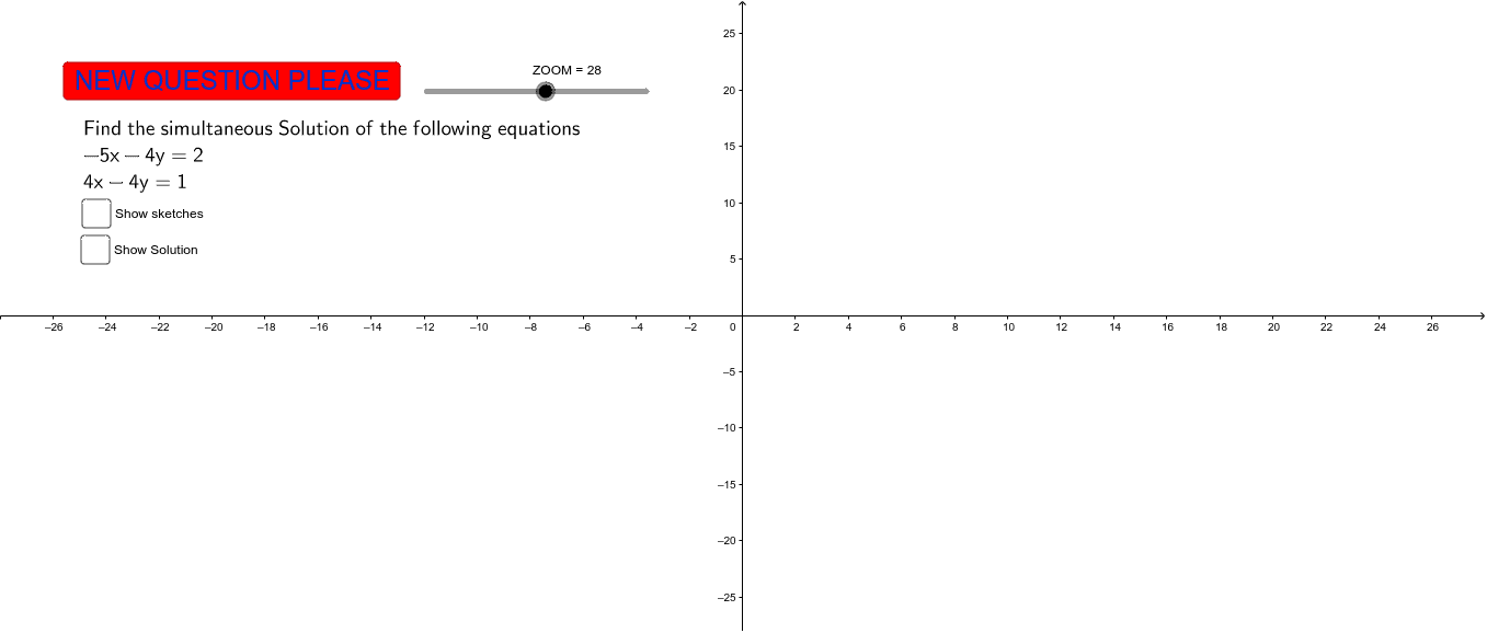 Solving Simultaneous Equations Press Enter to start activity
