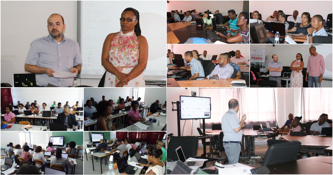 Professores de Matemática do IUE da Assomada, Praia e Mindelo, da Uni-CV e das Escolas Básicas e Secundárias da Praia e do Mindelo.