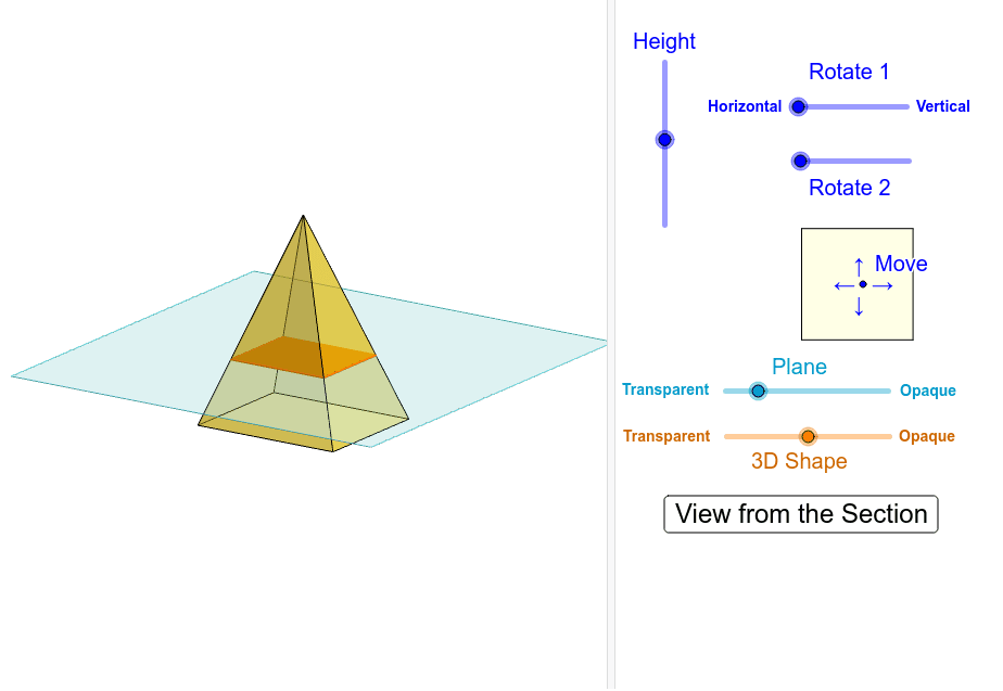 Cross-Section of Rectangular Pyramid Interactive Press Enter to start activity