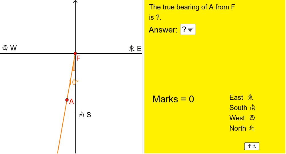 根據左圖,在右方選出答案,然後按「對答案」。 按 Enter 鍵開始活動