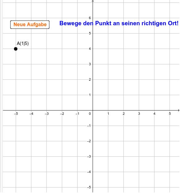 Finde die richtigen Koordinaten (sehr einfach)! Drücke die Eingabetaste um die Aktivität zu starten