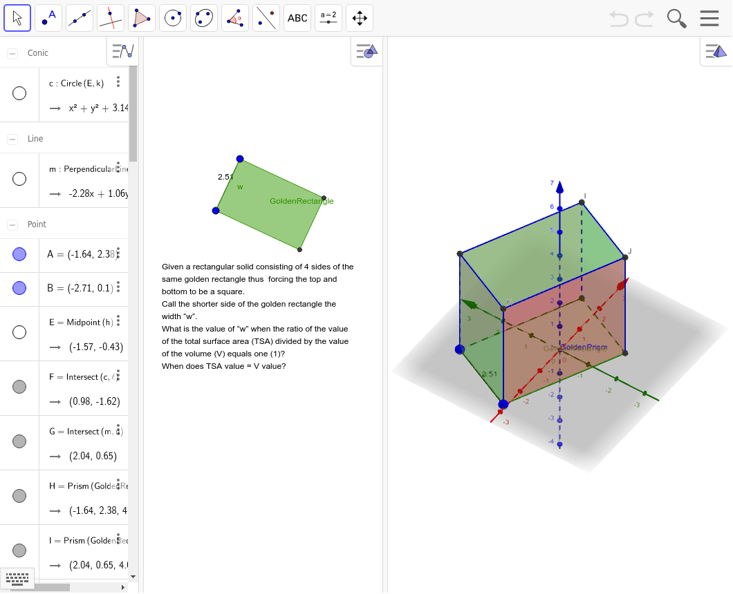 CCSS: G-GPE Expressing Geometric Properties with Equations  G-GMD Geometric Measurement and Dimension G-MG Modeling with Geometry Press Enter to start activity