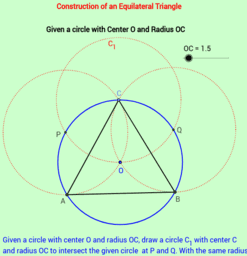 Construction of an Equilateral Triangle