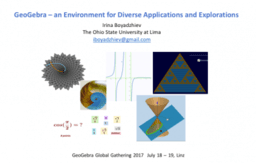 GeoGebra – a place for diverse applications and explorations