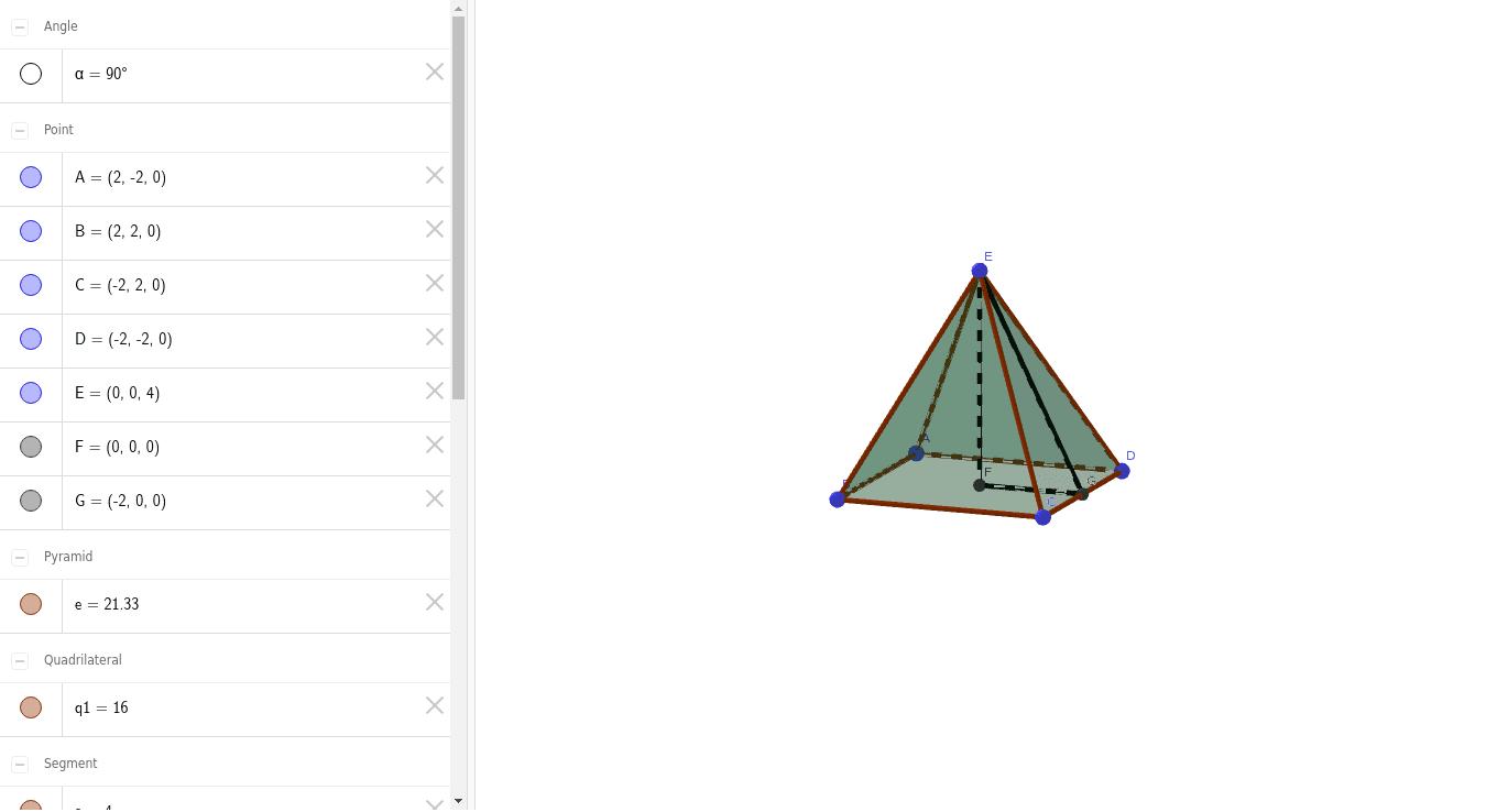 พีระมิดฐานสี่เหลี่ยม Press Enter to start activity