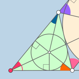 Incircle + Excircle = GoGeometry Action 31!