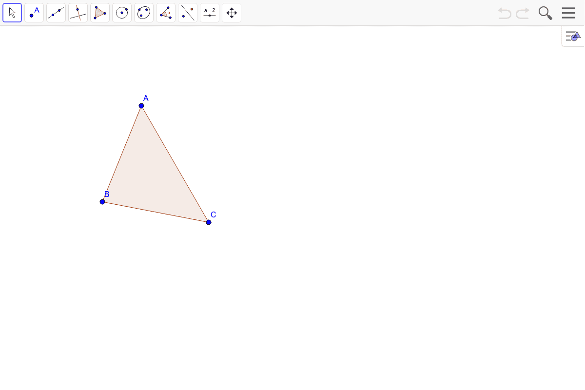 7) Find the orthocenter of the triangle. Press Enter to start activity
