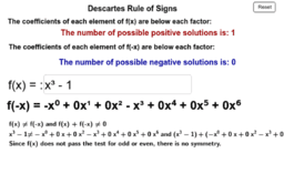 Decartes Rule of Signs