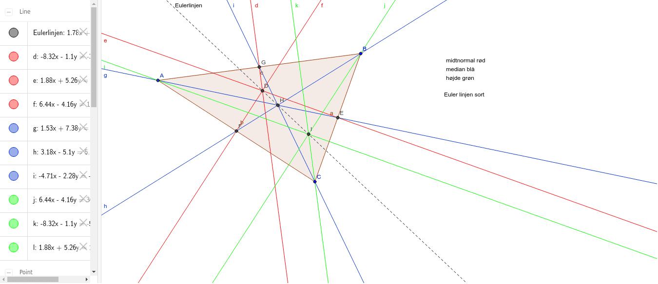 Euler linjen Tryk Enter for at starte aktiviteten